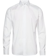 chessboard check evening shirt skjorta business vit eton