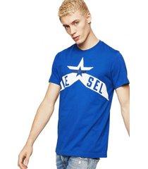 polera t diego a7 t shirt azul diesel