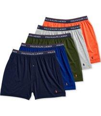 polo ralph lauren men's 5-pk. classic-fit moisture-wicking knit cotton boxers