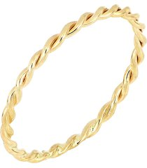 bony levy 14k gold ultra thin twisted stacking ring, size 5.5 in yellow gold at nordstrom