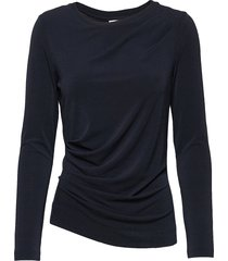 trude top t-shirts & tops long-sleeved blauw inwear