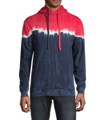 x ray men's printed long-sleeve hoodie - red - size s