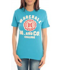 t-shirt korte mouw sweet company t-shirt marshall original m and co 2346 bleu