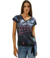 shirt amy vermont marine::pink::blauw