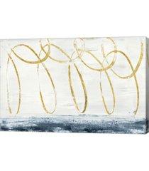 "metaverse city beach crop gold by piper rhue canvas art, 30"" x 20"""