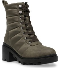 dv dolce vita nilda trapunto lace-up hiker booties women's shoes