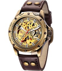 reloj automatico winner 012 skeleton - café