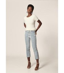 calça jeans mob skinny com p.u delave feminina