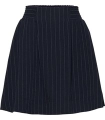 heavy crepe kort kjol blå ganni