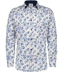 overhemd big tullips blauw