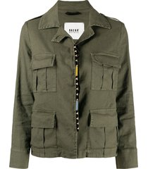 bazar deluxe multi-pocket military jacket - green