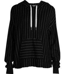 victory striped hooded sweatshirt