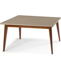 mesa de madeira 140x90 cm novita 609 cacau/marrom claro - maxima