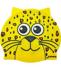 gorro silicona animales leopardo finis usa - amarillo