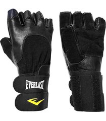 guantes para pesas everlast total strength ii-negro
