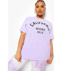 plus overdye california t-shirt, lilac
