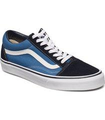 ua old skool låga sneakers blå vans