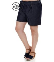 short jeans plus size cambos feminino