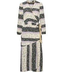 dress long sleeve knälång klänning creme noa noa
