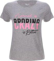 camiseta crazy color gris, talla m