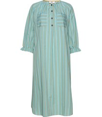 dress long sleeve knälång klänning grön noa noa