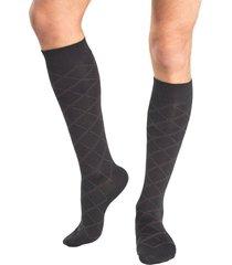 calcetin largo lana negro mota