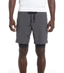 men's alo unity 2-in-1 shorts