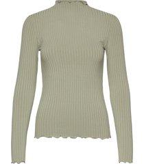 5x5 solid trutte t-shirts & tops long-sleeved groen mads nørgaard