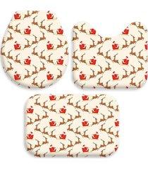 jogo love decor tapetes wevans para banheiro viagem de natal off white