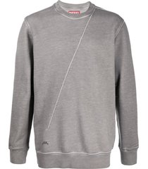 a-cold-wall* x diesel red tag diagonal-seam sweatshirt - grey