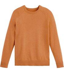 finstickad tröja i bomullsblandning med rund halsringning
