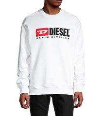 diesel men's logo cotton sweatshirt - white - size xl
