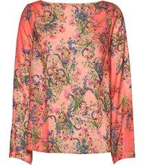blouse eda blus långärmad rosa lindex