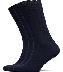 slhpete 3-pack cotton rib sock noos underwear socks regular socks blå selected homme