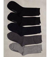 jack & jones jacjens sock 5 pack noos strumpor mörk grå