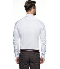 koszula versone 2520 długi rękaw slim fit ecru
