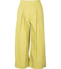 pinko crop pants in poplin
