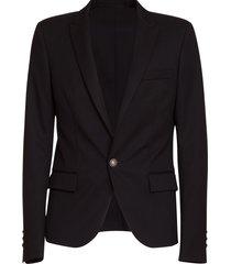 balmain single button blazer