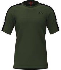 camiseta kappa coen - verde oliva/negro