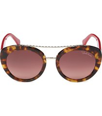 roberto cavalli women's 54mm cat eye sunglasses - havana
