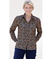 blouse mona bruin::taupe::marine