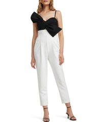women's ever new two-tone bow bodice jumpsuit