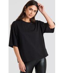 na-kd basic oversized boxy t-shirt - black