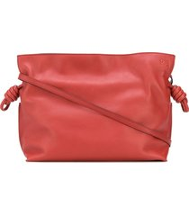 loewe flamenco knot clutch bag - red