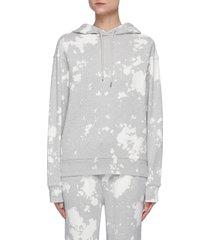 ink splash print hoodie