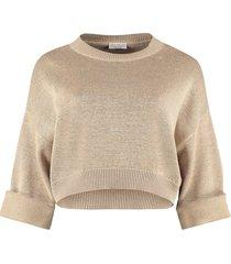 brunello cucinelli lurex sweater