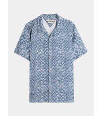 camisa resort estampado batik rombos