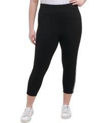 calvin klein performance plus size logo leggings