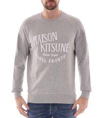 maison kitsune palais royal sweatshirt |grey| 300km01-gry
