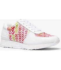 mk sneaker allie in pelle con logo e stampa cuori - combo bianco (bianco) - michael kors